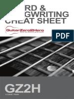 Guitar Chord Songwriting Cheat Sheet 2019