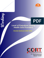Level of Prejudice Among Health Care Providers of HIV Positive People