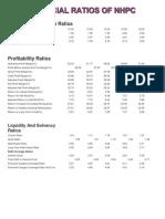 financial ratios of NHPC.docx
