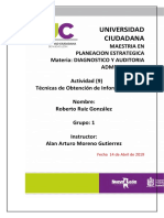 Tarea 9-Diagnostico y Auditoria Admnistrativa