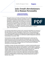 Psychoanalysis Freuds Revolutionary Approach