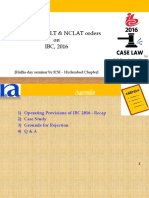 RKG-NCLT Case Analysis on IBC
