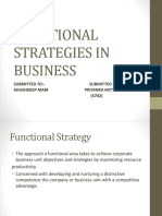 Functional Strategies in Business