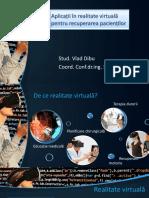 Recuperarea Pacientilor Prin Aplicatii de Realitate Virtuala