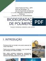 Biodegradação de Polímeros