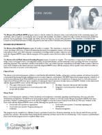 Social Work Fact Sheet