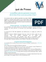 Communiqué de Presse - 01_06_19 - La Villa des Légendes - Ouvertures de la première salle de spectacles immersifs