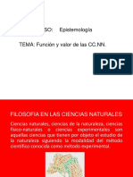FUNCION Y VALOR Ciencias Naturales
