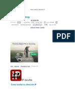 Cómo Ocultar Su Dirección IP