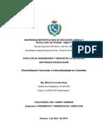 Ensayo Diversificacion Curricular e  Interculturalidad
