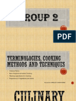 Terminologies, Cooking Methods and Techniques
