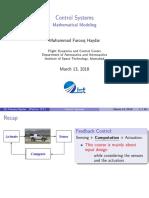 Dr. Farooq Control lec- Mathematical modelling