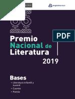Bases y Formularios - Premio Nacional de Literatura 2019