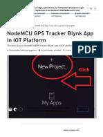 NodeMCU GPS Tracker Blynk App in IOT Platform - Hackster.io