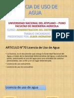 Licencia de Uso de Agua
