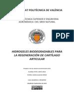 HIDROGELES BIODEGRADABLES PARA LA REGENERACIÓN DE CARTÍLAGO ARTICULAR