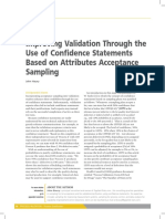 Improving Validation Through the Use of Confidence Statements Based on Attributes Acceptance Sampling