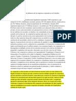 El Desarrollo y La Influencia de Las Empresas Cooperativas en Colombia