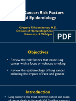 Lung Cancer Risk Factors and Epidemiology