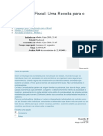 Cidadania Fiscal - Uma Receita Para o Brasil - AV 2