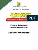 PIM II Gestão Analitica de Negocios