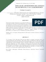 Artropodos Bosque Pichincha 2005 Biologia6