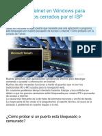 Como Usar Telnet en Windows Para Probar Puertos Cerrados Por El ISP