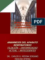 7ma y 8va Clase Historia Clínica Aparato Respiratorio