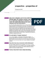 A Personal Perspective – Properties of Materials Transcript