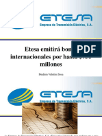 Ibrahim Velutini Sosa - Etesa emitirá bonos internacionales por hasta $750 millones