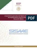 SISAAE Lineamientos Mayo 2019