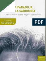 La Paradoja de La Sabiduria Goldberg Elkhonon