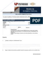 Modelo de Examen Parcial ADMINISTRACIÓN II