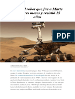 Adiós Al Robot Que Fue a Marte Para Tres Meses y Resistió 15 Años
