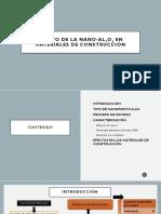 Efecto de La Nano-Al2O3 en Materiales de Construcción