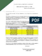 CIRCULAR N° 003-2019 PRESENTACIÓN DE EXÁMENES