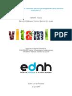 Intérêts des vitamines dans le développement et la fonction musculaire