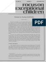 focus on exceptional children