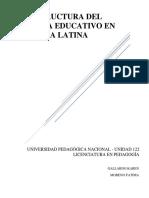 La Estructura Del Sistema Educativo en Ámerica Latina