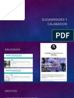 Sugammadex y Calabadion