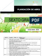 Planeacion 6to Abril