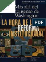 BURKI & PERRY Más allá del consenso de Washington. La Hora de la Reforma Institucional.