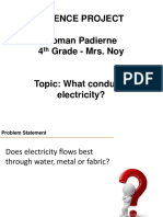 Science project presentation for electrical conductors