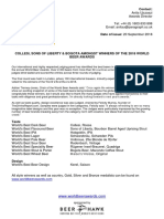 WorldBeerAwards Press Release September