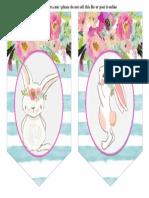 conejo guirnalda