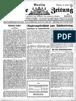 Vossische Zeitung 18 January 1925