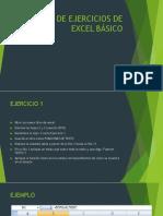 Guia de Ejercicios de Excel Básico