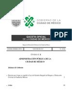 Ley General de Gestión Integral de Riesgos y Protección Civil.