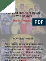 Cosas Que No Sabias de Los Power Rangers