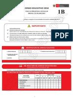 Cedula 1B Censo Educativo 2018